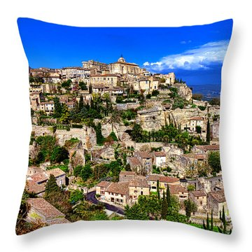 Throw Pillow featuring the photograph Gordes by Olivier Le Queinec