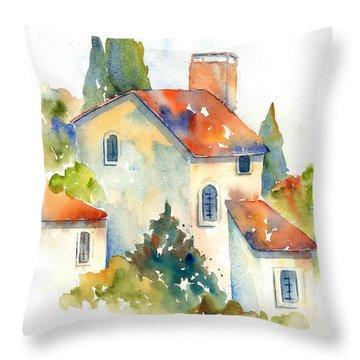 In The Village Of Gordes Throw Pillow