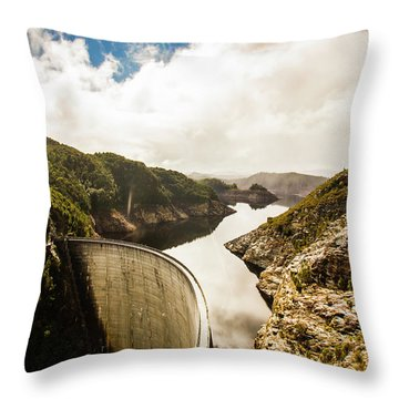 Gordon Dam Tasmania  Throw Pillow