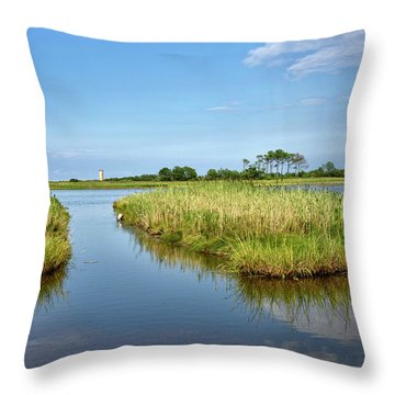 Throw Pillow featuring the photograph Gordons Pond - Cape Henlopen Park - Delaware by Brendan Reals