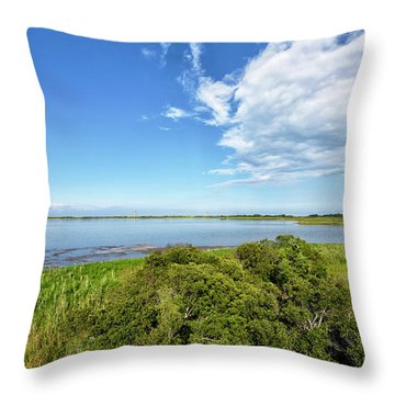 Throw Pillow featuring the photograph Gordons Pond Overlook - Cape Henlopen State Park - Delaware by Brendan Reals