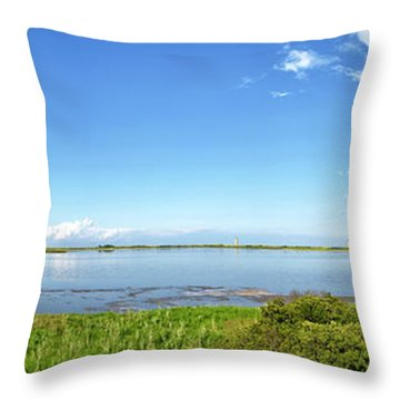 Throw Pillow featuring the photograph Gordons Pond Panorama - Cape Henlopen State Park - Delaware by Brendan Reals