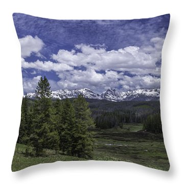 Throw Pillow featuring the photograph Gore Range by Bitter Buffalo Photography