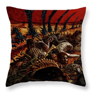 Gored-explored Throw Pillow