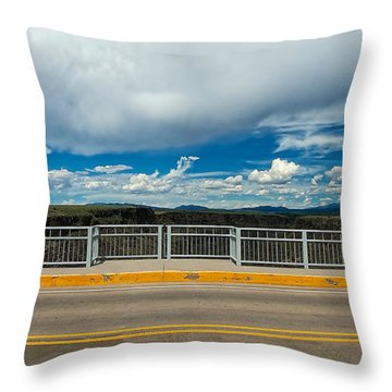 Gorge Bridge North View Throw Pillow