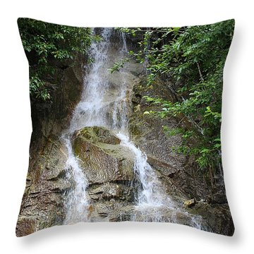 Gorge Creek Falls - North Cascades National Park Wa Throw Pillow by Christine Till