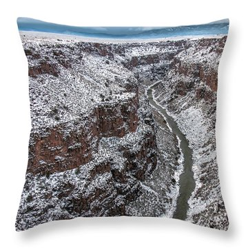 Throw Pillow featuring the photograph Gorge In Snow by Britt Runyon
