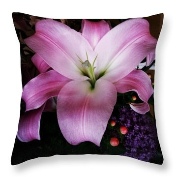 Throw Pillow featuring the photograph Gorgeous Flowers. Real. I Think They by Mr Photojimsf