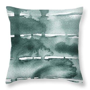 Gorgeous Grays Abstract Interior Decor Ix Throw Pillow