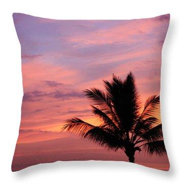 Gorgeous Hawaiian Sunset - 1 Throw Pillow by Karen Nicholson