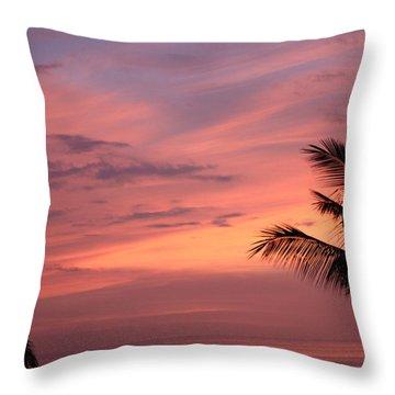 Gorgeous Hawaiian Sunset - 3 Throw Pillow by Karen Nicholson