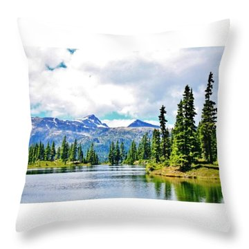 Gorgeous Hike To The Campsite! #hike Throw Pillow