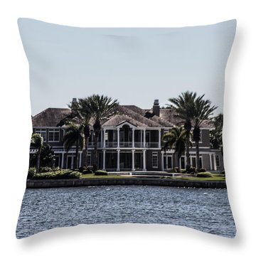 Gorgeous Home On The River Throw Pillow by Nance Larson