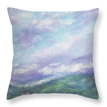 Gorgeous Lake Landscape Throw Pillow
