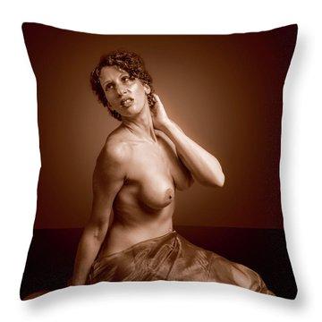Gorgeous Nude. Throw Pillow