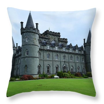 Gorgeous View Of Inveraray Castle Throw Pillow