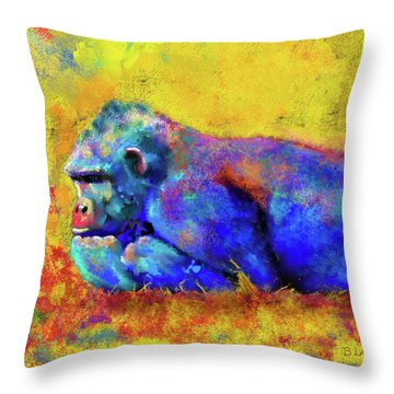 Gorilla Throw Pillow by Test