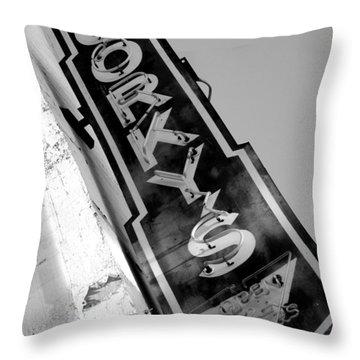 Gorky's Cafe Throw Pillow by Jeff Lowe