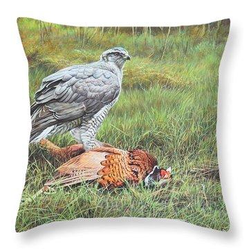 Goshawk Throw Pillow