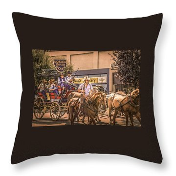 Goshen Mounted Police Throw Pillow