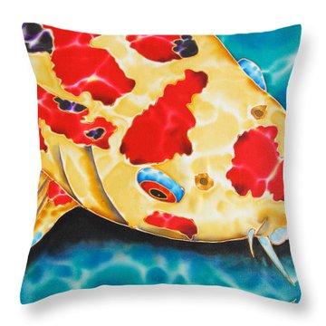Goshiki Koi Throw Pillow by Daniel Jean-Baptiste