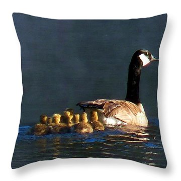 Gosling On Parade Throw Pillow