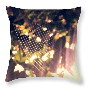 Gossamer Glow Throw Pillow