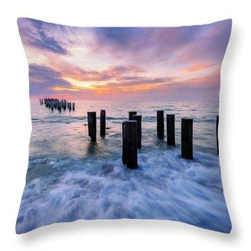 Gossamer Gulf Throw Pillow