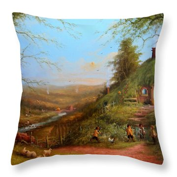 Gossip At The Gate Throw Pillow