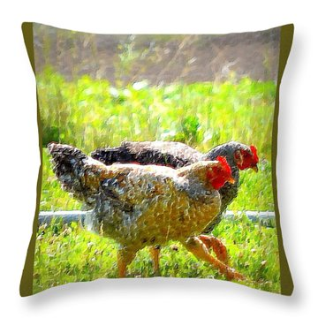 Throw Pillow featuring the photograph Gossip Girls by Barbara Dudley