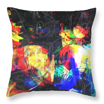 Gossiping Throw Pillow by Fania Simon