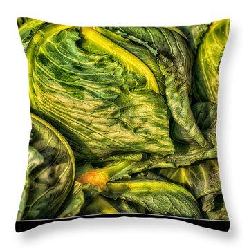 Got Cabbage? Throw Pillow