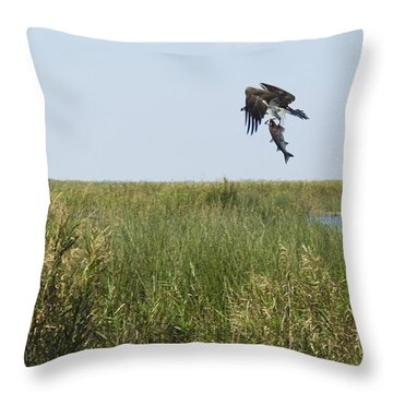 Got Dinner Throw Pillow