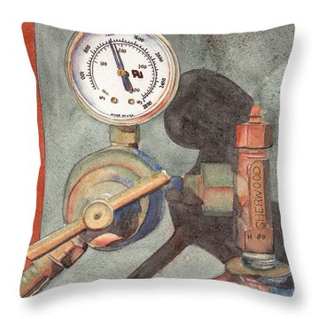Got Gas Throw Pillow by Ken Powers