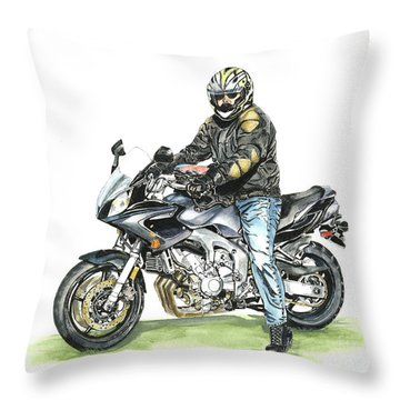 Got To Ride Throw Pillow by Shari Nees