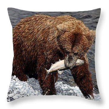 Gotcha Throw Pillow by Linda Becker