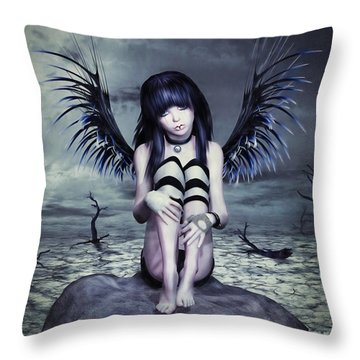 Goth Fairy Throw Pillow