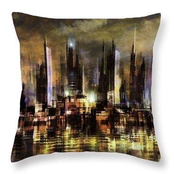 Gotham City IIi Throw Pillow