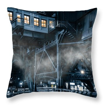 Gotham City Throw Pillow by Mihai Andritoiu