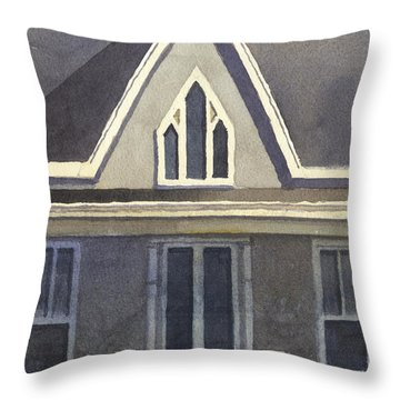 Gothic American, New Harmony, In Throw Pillow