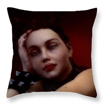 Gothic Angel Portrait Throw Pillow