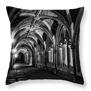 Gothic Arches Throw Pillow