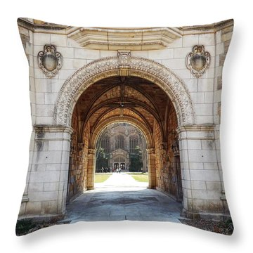 Gothic Archway Photography Throw Pillow