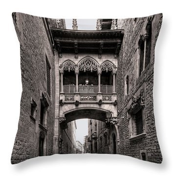 Gothic Barcelona Throw Pillow