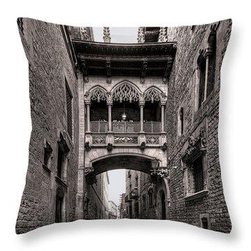 Gothic Barcelona Throw Pillow