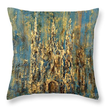 Gothic Church  Throw Pillow by Arturas Slapsys