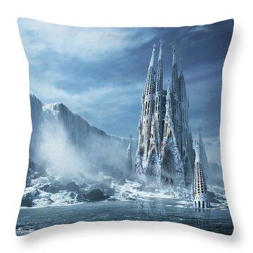 Gothic Fantasy Or Expiatory Temple Throw Pillow