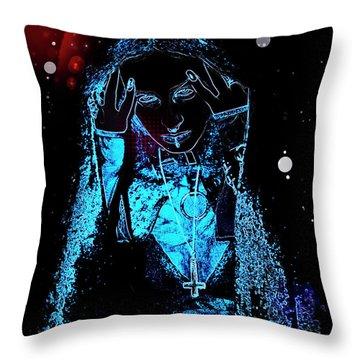 Gothic Female Model Throw Pillow