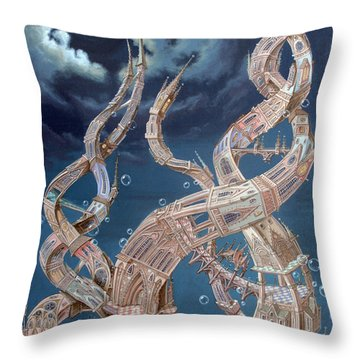 Gothic Genome Throw Pillow