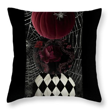 Gothic Halloween Throw Pillow by Mindy Sommers